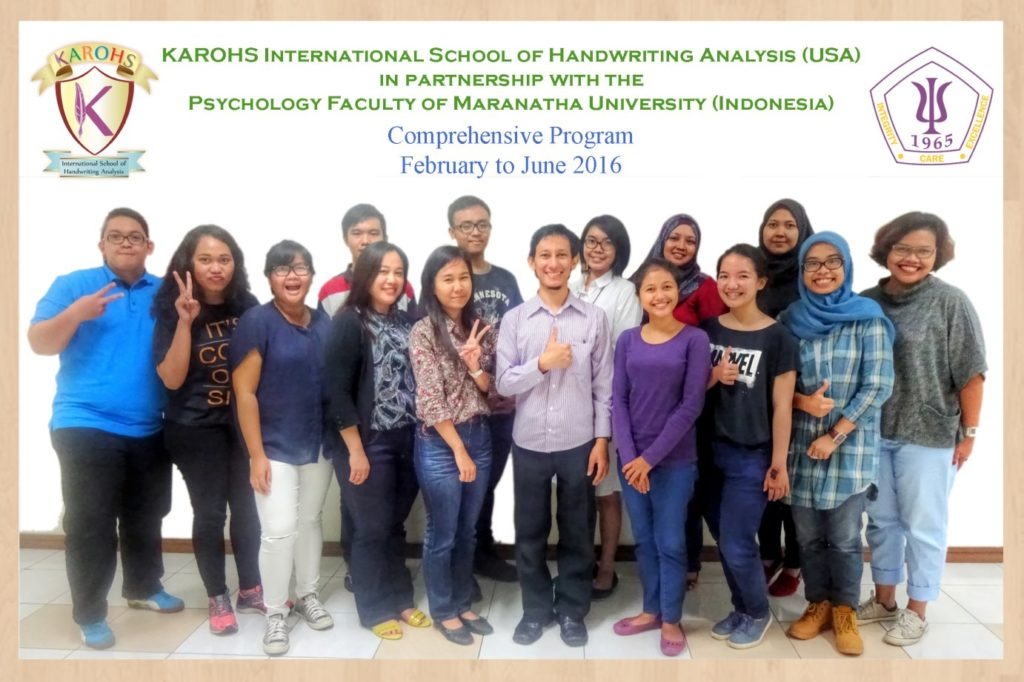 Grafologi Comprehensive Maranatha Angkatan 3 - feb 2016 r